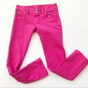 Lilly Pulitzer Pink Worth Straight Jeans Size 4